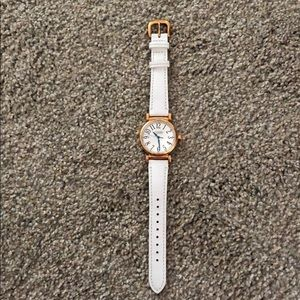 White leather Coach watch